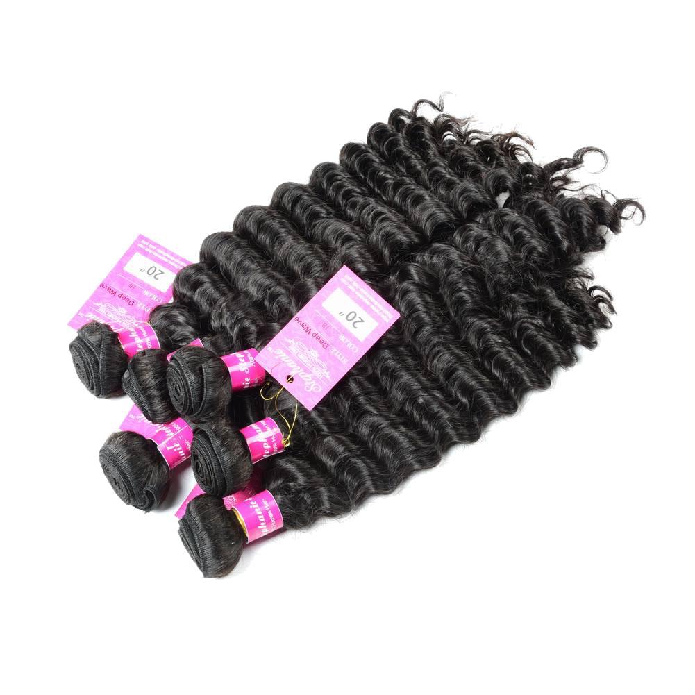 Deep Wave Human Hair Weave Bundles Deals 12