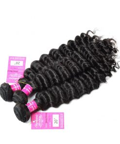 Deep Wave Human Hair Weave Bundles Deals
