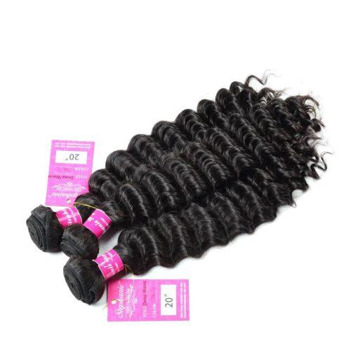 Deep Wave Human Hair Weave Bundles Deals