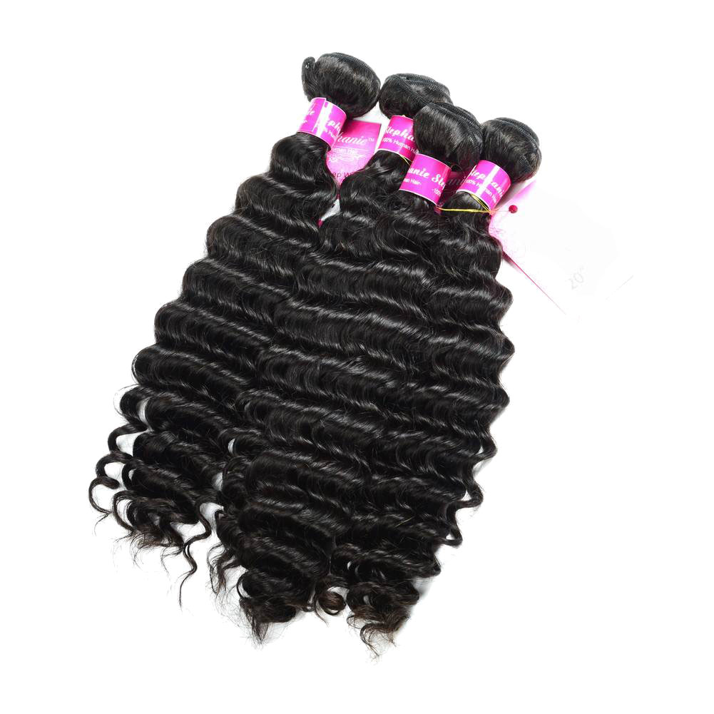 Deep Wave Human Hair Weave Bundles Deals 8