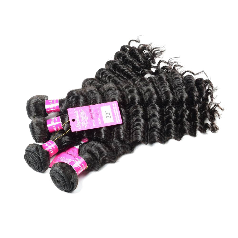Deep Wave Human Hair Weave Bundles Deals 9