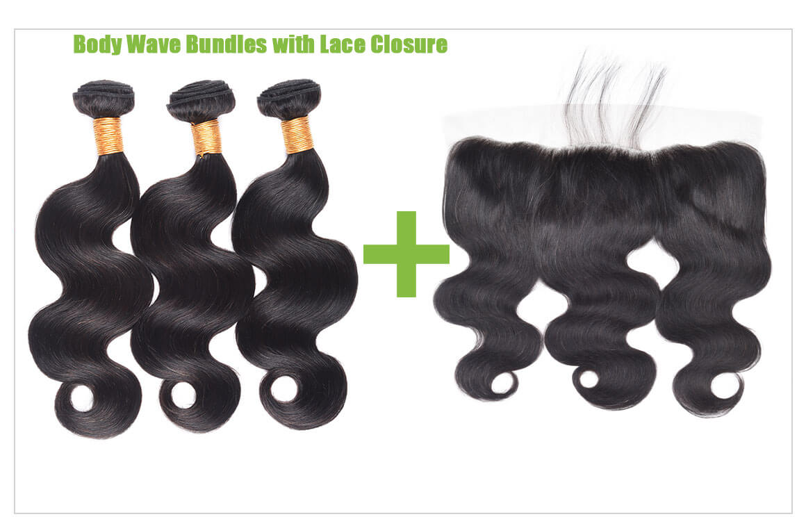 body wave bundles with lace closure