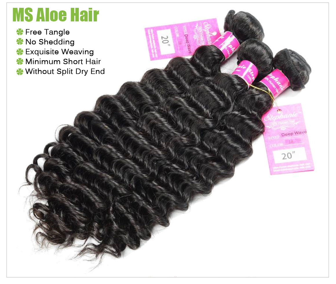 deep wave human hair bundles 2