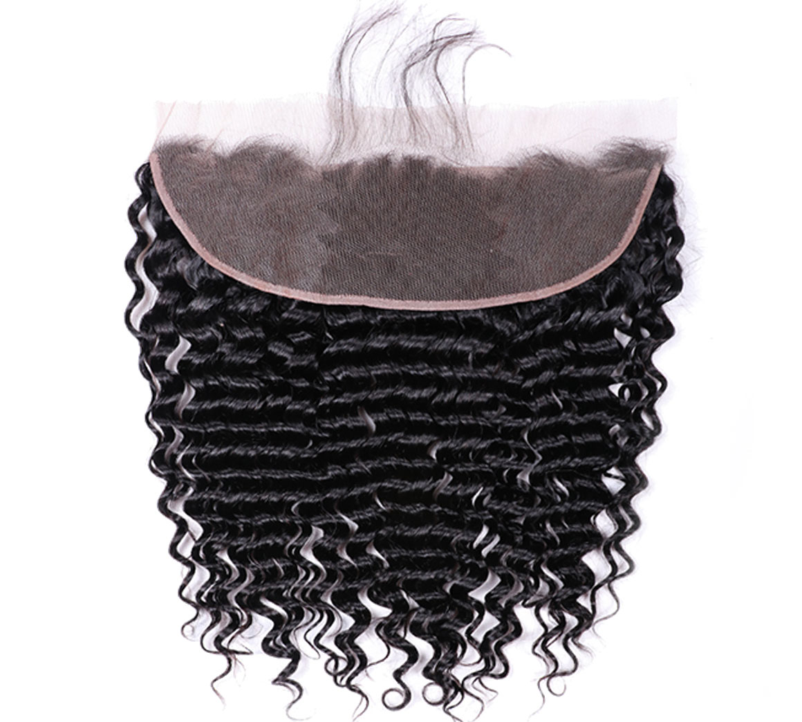 human hair deep wave 13x4 lace frontal