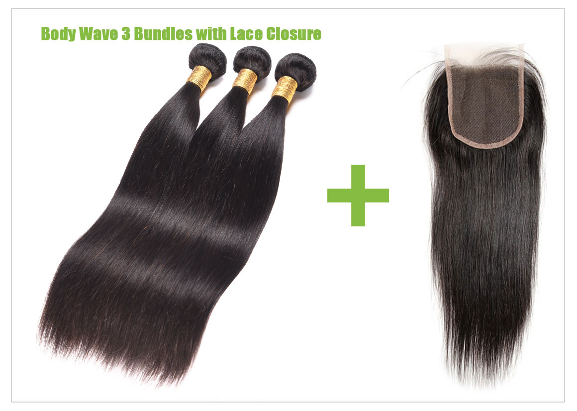 straight human hair bundles with lace closure 01