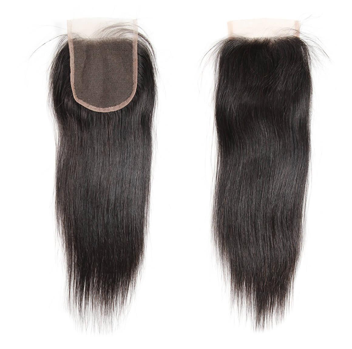 straight human hair lace closure 06