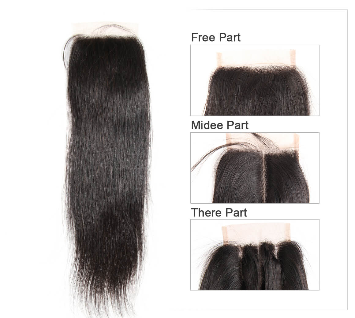 straight human hair lace closure 07