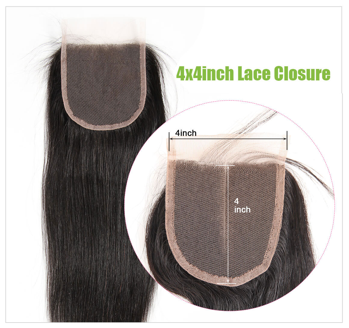 straight human hair lace closure 08