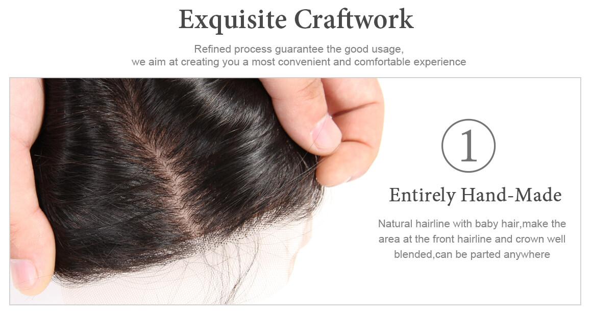 straight human hair lace closure 09