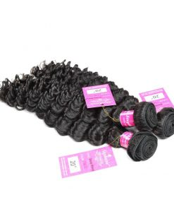 Deep Wave Human Hair Weave Bundles Deals 4