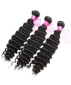 Deep Wave Human Hair Weave Bundles Deals 5