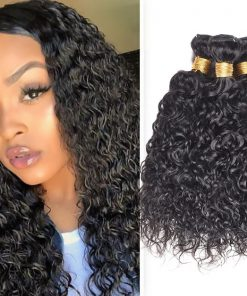 Indian Water Wave Hair Human Hair Weave Bundles Deals