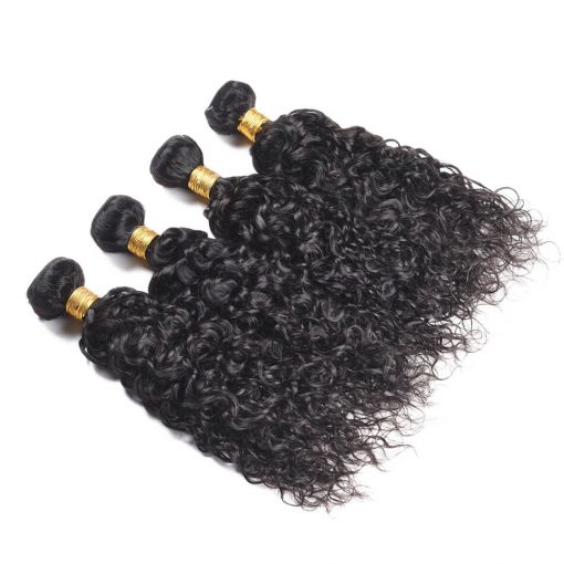 Indian Water Waves Hair Virgin Human Hair 4 Bundles deals