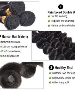 loose deep wave human hair bundles 1
