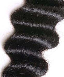 loose deep wave human hair bundles