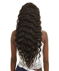 loose deep wave human hair bundles 4