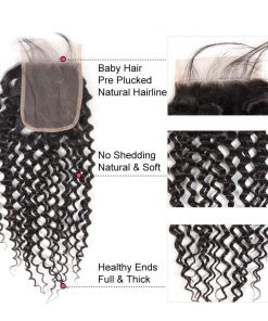 curly weave lace closure