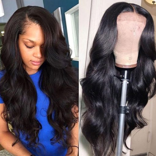 body wave human hair 360 lace wig