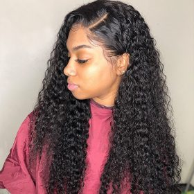 curly hair 13x4 lace front wig 1
