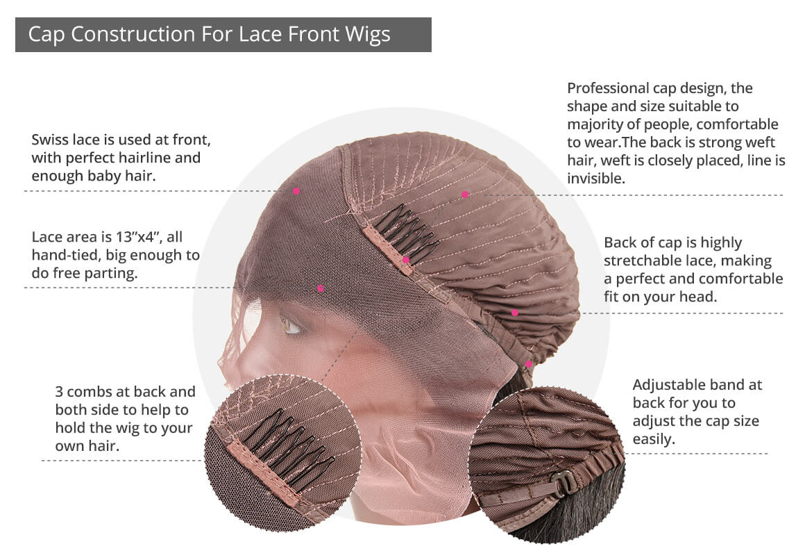 lace front wig detail