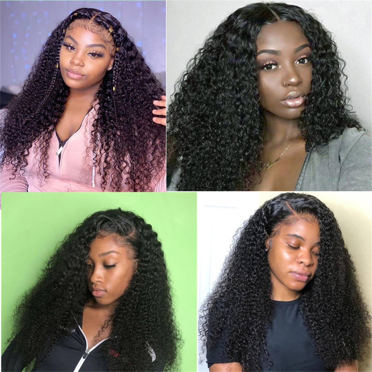 Curly 4x4 Lace Closure Wigs