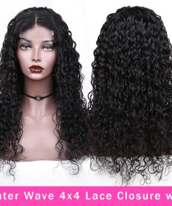 Water Wave 4x4 Lace Closure Wig