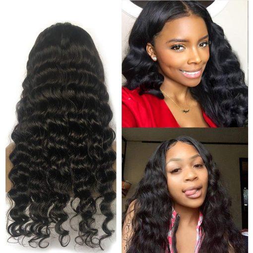 Loose Deep Wave 5X5 Lace Closure Wigs