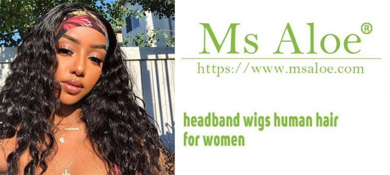 headband wigs human hair